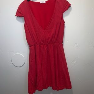 Red v-neck dress from tobi